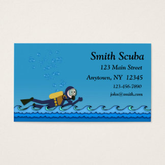 Scuba Blue Waves Business Card