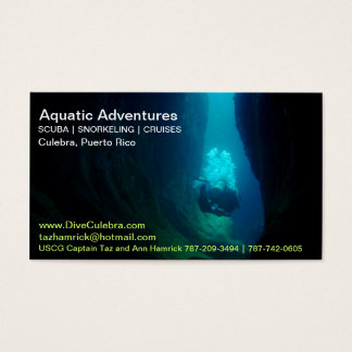 SCUBA Business Card