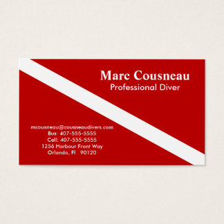 Scuba Business - Personal Card - Dark Red