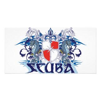 SCUBA CREST CUSTOM PHOTO CARD