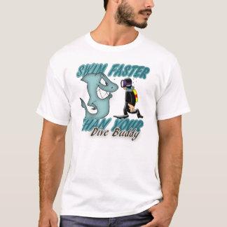 Scuba Dive Buddy Fun Design With Shark And Scuba D T-Shirt