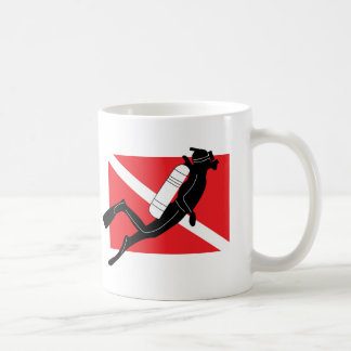 SCUBA Dive Flag With Male SCUBA Diver Coffee Mug