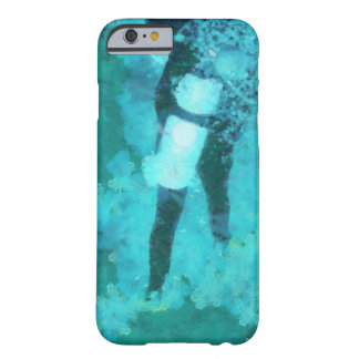 Scuba diver and bubbles barely there iPhone 6 case