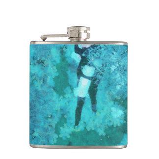 Scuba diver and bubbles flasks