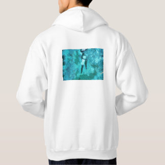 Scuba diver and bubbles hoodie