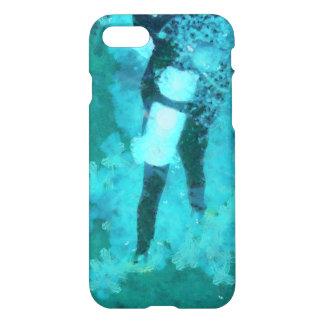 Scuba diver and bubbles iPhone 8/7 case