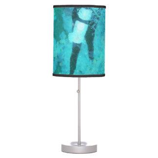 Scuba diver and bubbles table lamp