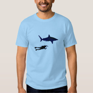 SCUBA diver and shark Tshirt