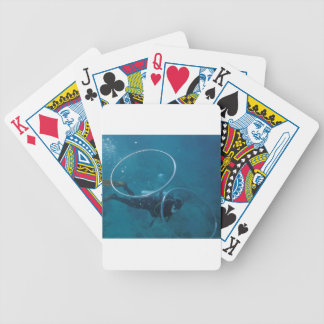 Scuba Diver Bicycle Playing Cards