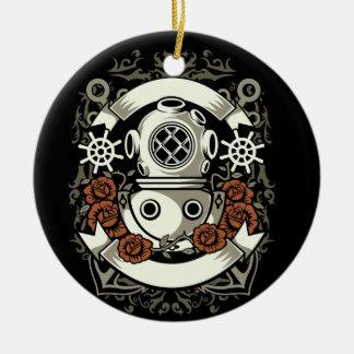 Scuba Diver Ceramic Ornament