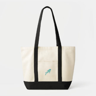 Scuba Diver Diving Mono Line Tote Bag