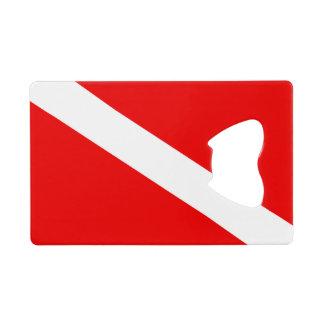 Scuba Diver Flag Wallet Bottle Opener