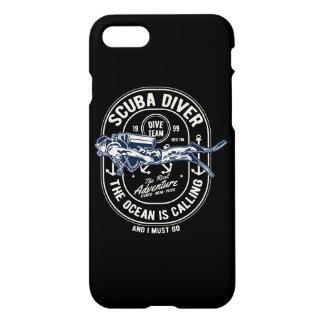 Scuba Diver Glossy Phone Case