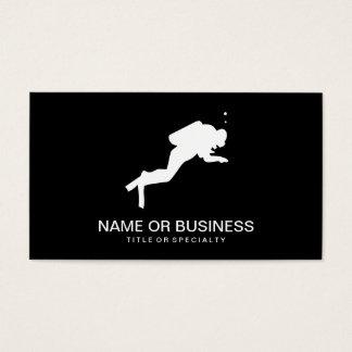scuba diver icon business card