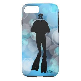Scuba Diver in Bubbles iPhone 7 case