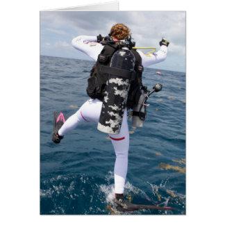 Scuba Diver Jump Card