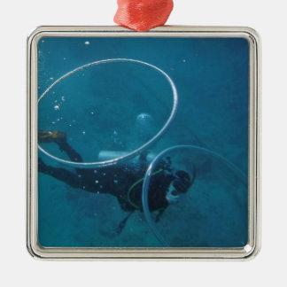Scuba Diver Metal Ornament
