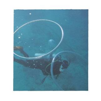 Scuba Diver Notepad