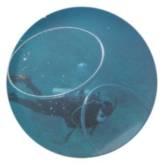 Scuba Diver Party Plate