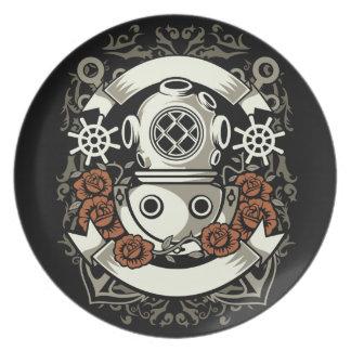 Scuba Diver Plate