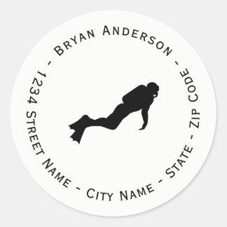 Scuba Diver Return Address Label