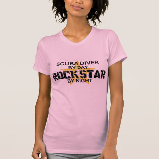 Scuba Diver Rock Star by Night T-Shirt