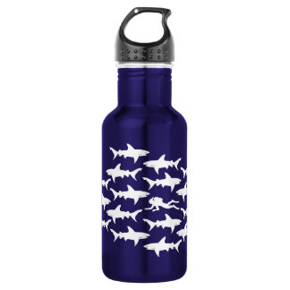 Scuba Diver Swimming with Sharks Funny 532 Ml Water Bottle