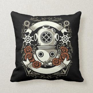 Scuba Diver Throw Pillow