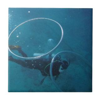 Scuba Diver Tile