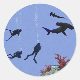 SCUBA diver's dream sticker