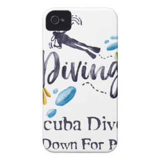 Scuba Divers Go Down For Pleasure Case-Mate iPhone 4 Case