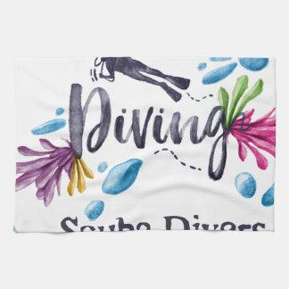 Scuba Divers Go Down For Pleasure Towel
