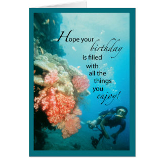 Scuba Diving Birthday Card