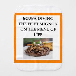 scuba diving burp cloth