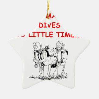 scuba diving ceramic ornament