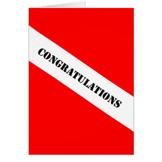 Scuba Diving Congratulations Card