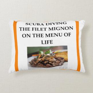 scuba diving decorative pillow