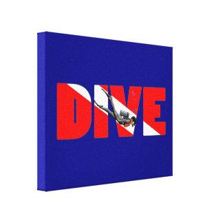 Scuba Diving DIVE Canvas Print
