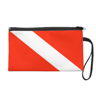 Scuba Diving Dive Flag Wristlet Purse