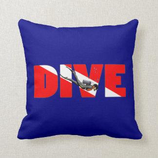 Scuba Diving DIVE Throw Pillow
