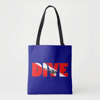 Scuba Diving DIVE Tote Bag