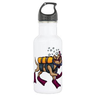 Scuba Diving Dog Water Bottle
