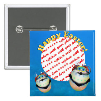 Scuba Diving Easter Eggs  Photo Frame 2 Inch Square Button