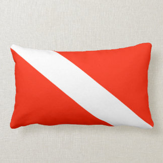 Scuba Diving Flag Lumbar Pillow