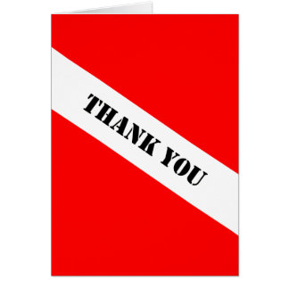 Scuba Diving Flag Thank You Card