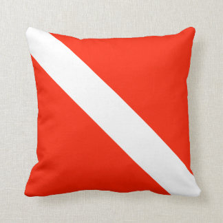 Scuba Diving Flag Throw Pillow