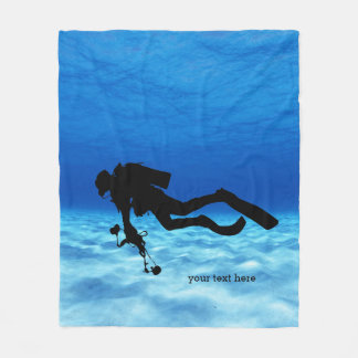 Scuba Diving Fleece Blanket
