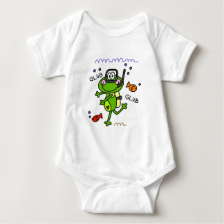 Scuba Diving Froggie Boy Baby Baby Bodysuit