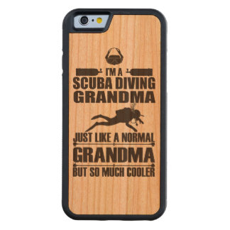 Scuba Diving Grandma iPhone 6 Case Wood