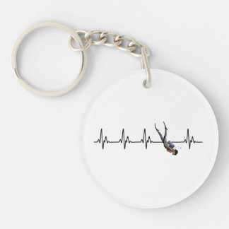 SCUBA Diving Heartbeat Keychain
